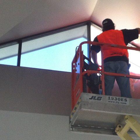 CSC_Window_Tinting_Scissor_Lift_Flat_Glass_Tint_Installation